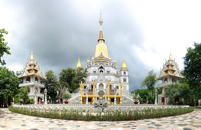 Pagode Backpacker Reise Vietnam