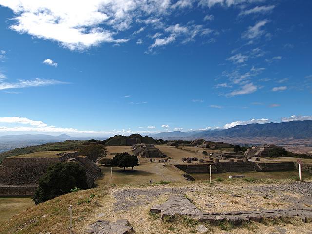 Monte Alban Oaxaca Mexiko Ruinen