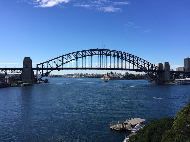 Sydney Harbour Bridge Australien Backpacking Reise