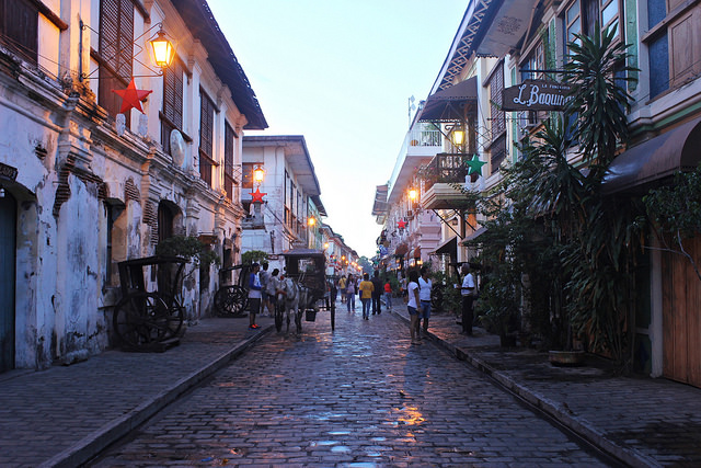 Kolonialarchitektur Vigan Luzon Philippinen Backpacking