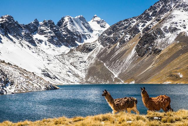 Condoriri Trek Cordillera Real Bolivien backpacking