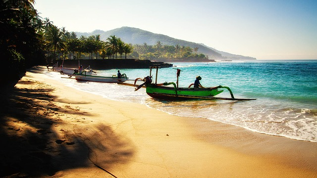 Backpacking Indonesien Strand auf Bali