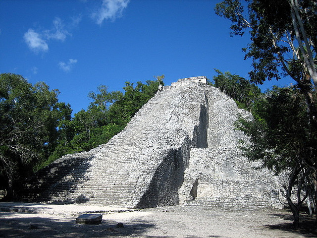 Ruinen Mittelamerika Coba Ruine Maya Mexiko Backpacking
