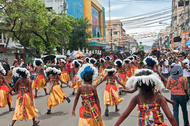 Dinagyang Festival Iloilo Panay Philippinen Backpacking