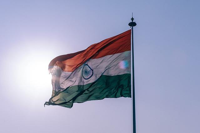 Indien Grenze Reisen Flagge