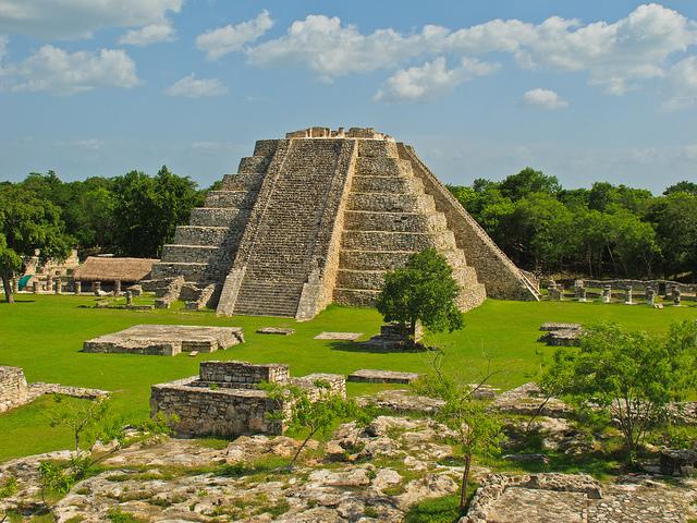 Mayapan Ruine Backpacking in Mexiko