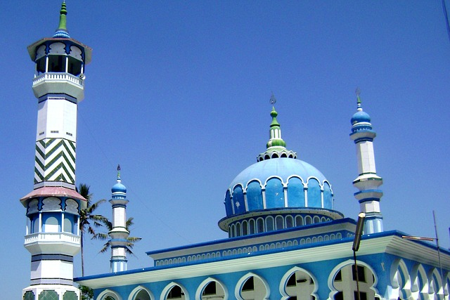 Indonesien Backpacker Moschee in Malang
