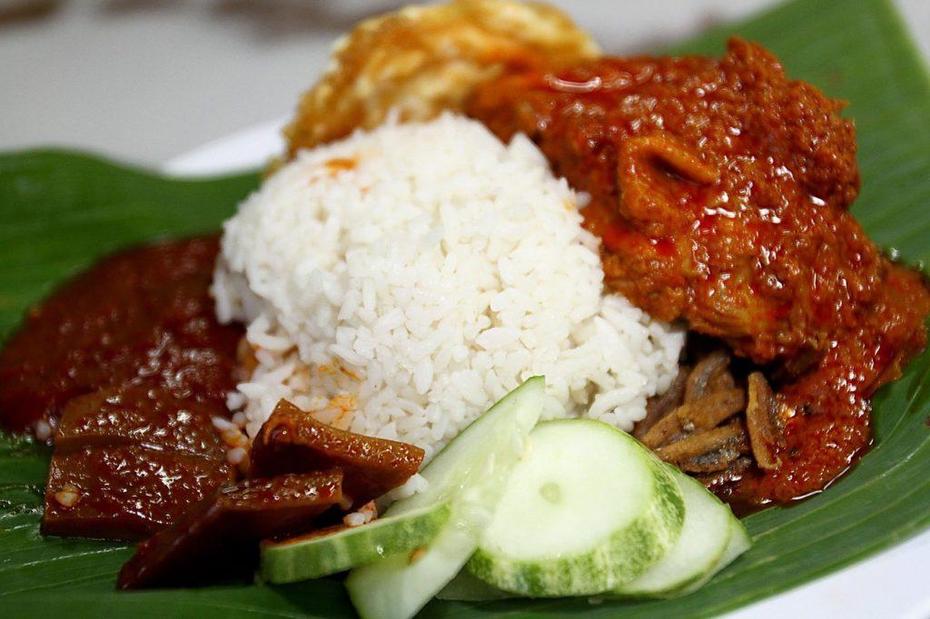 Malaysia Essen Nasi Lemak