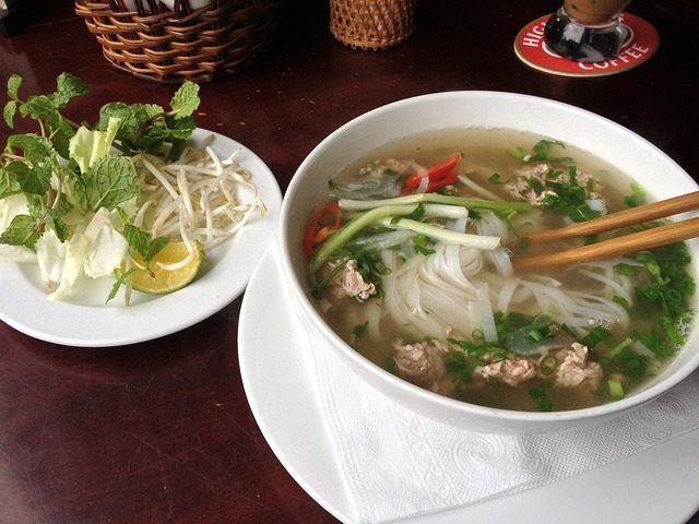 Pho Suppe Vietnamesisches Essen Backpacking Vietnam
