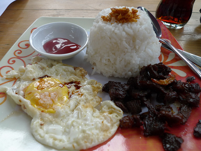 Tapsilog Frühstück Philippinen Backpacking